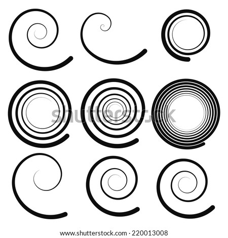 Spiral elements - stock vector