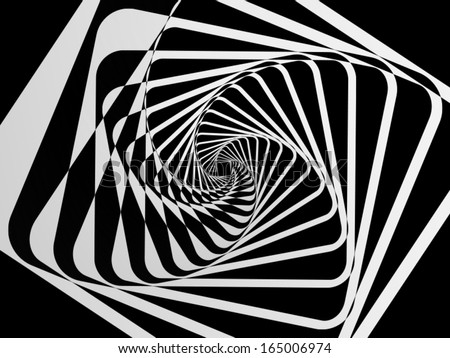 Spiral Motion Abstract Background - stock vector