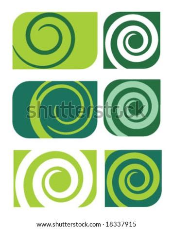 spiral patterns - stock vector