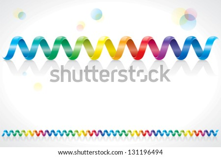 Spiral rainbow colors cable decoration. - stock vector