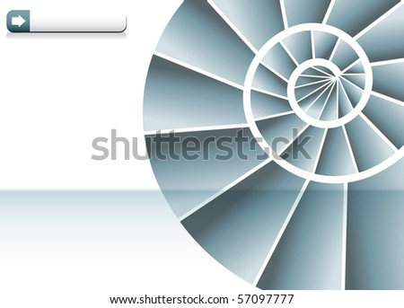 Spiral Staircase Chart - stock vector