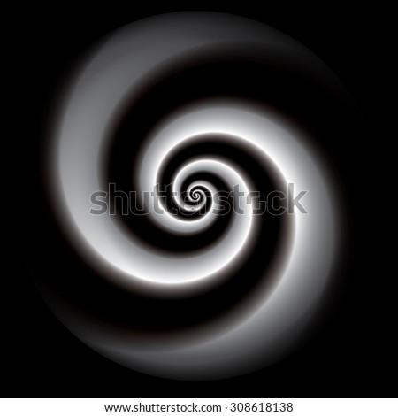 Spiral vector background. - stock vector
