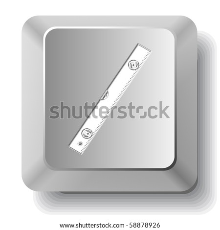 Spirit level. Vector computer key.