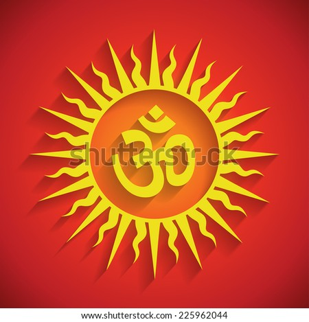 Spiritual Om Design with Shadows (EPS10 Vector) - stock vector