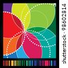 Spirograph art design backgraund. - stock