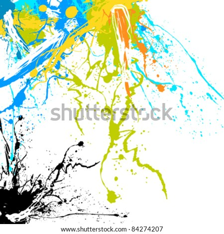 splash background - stock vector