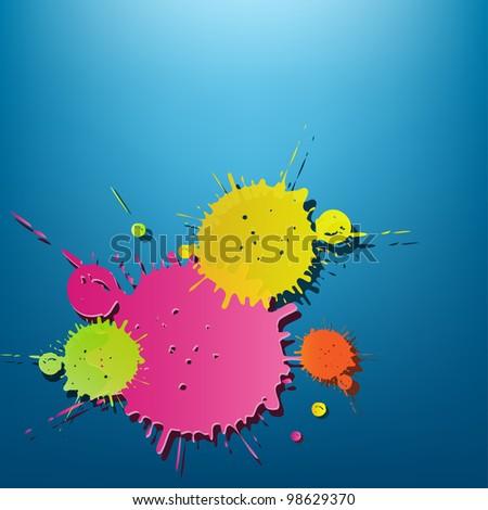 Splash background - stock vector