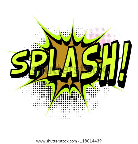 Splash. Comic book explosion. Easy to change color.