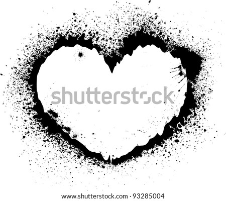 Splash heart - stock vector