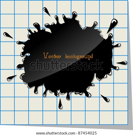 splash on paper vector - stock vector