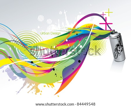 splash paint abstract vector