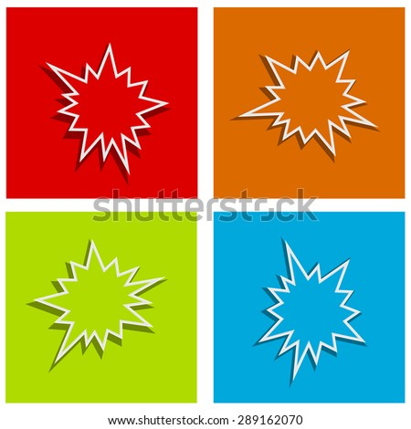 splash starburst festive abstract background set - stock vector
