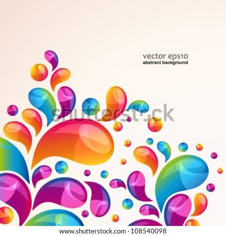 Splash vector background cover template. - stock vector