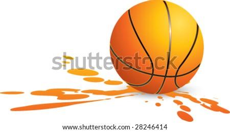 splat basketball - stock vector