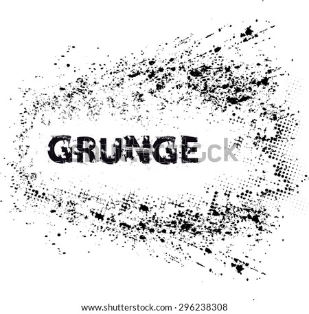 Splatter Background . Black Ink Splats . Spray Paint Splatters . Vector Paint Splats . Blots and Splashes . Grunge Ink Stains . Distress Vector Stains for Grunge Effects . Ink Splats for Design Use . - stock vector