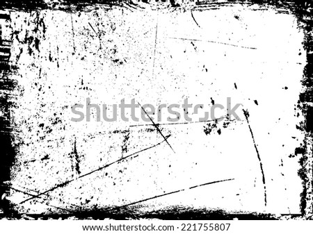 Splatter Paint Texture . Distress rough background . Scratch, Grain, Noise rectangle stamp . Black Spray Blot of Ink.Place illustration Over any Object to Create grunge Effect .abstract vector