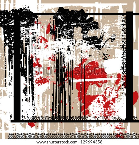 splattered grunge background - stock vector