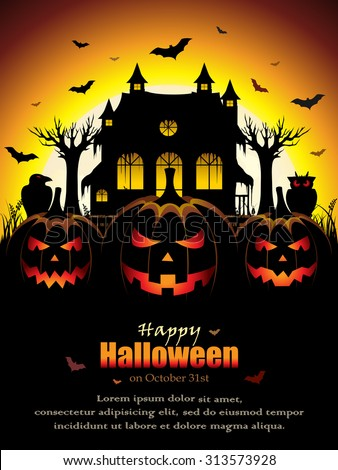 Spooky Halloween Design  - stock vector