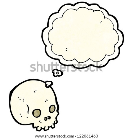 spooky skull with thought bubble