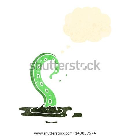 spooky tentacle monster cartoon - stock vector