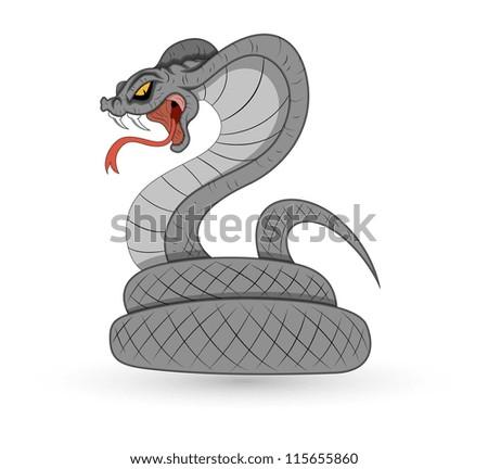 Spooky Vector Snake - stock vector