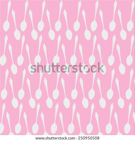 Spoon pattern on white background  - stock vector