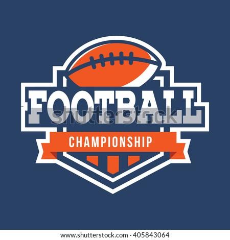 Sport American Football Logo. American style. - stock vector