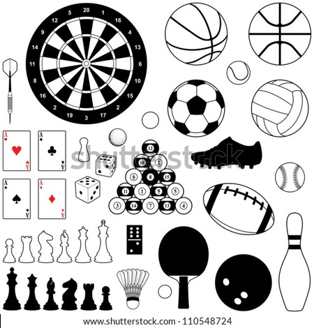 Sport and Game collection - vector illustration - stock vector