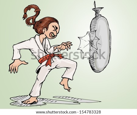 sport athlete fighting again sand sag - stock vector