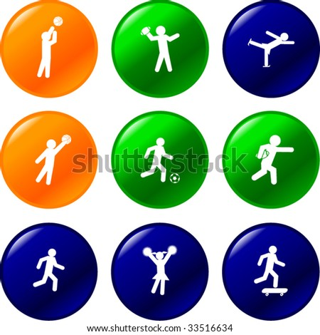 sport athletes buttons