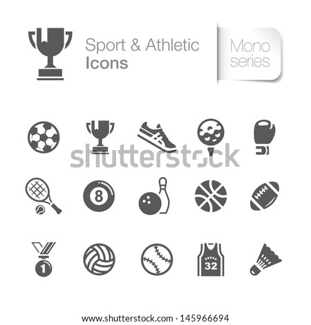Sport & athletic related icons. - stock vector