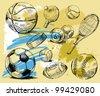 sport background - stock vector