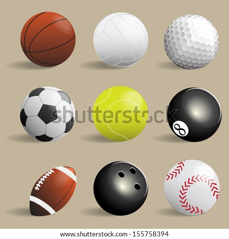 sport balls collection,Illustration eps 10