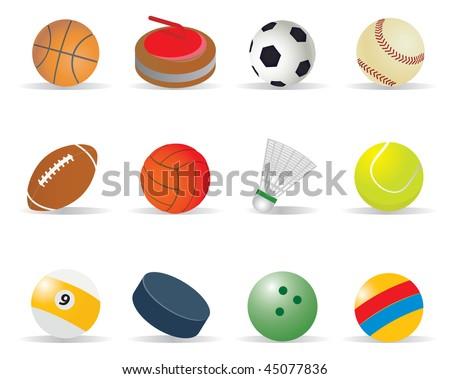Sport balls. Vector illustration for you design - stock vector