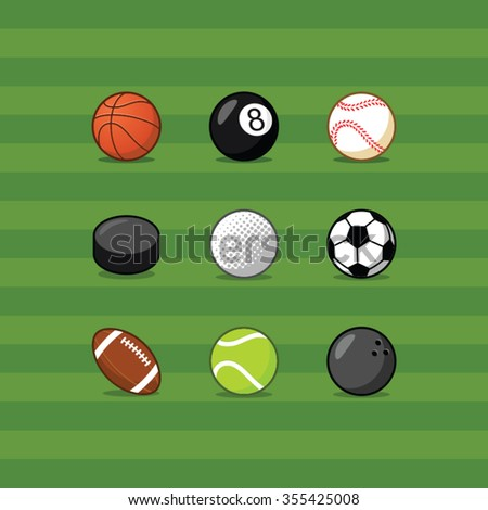 sport balls vector set - stock vector