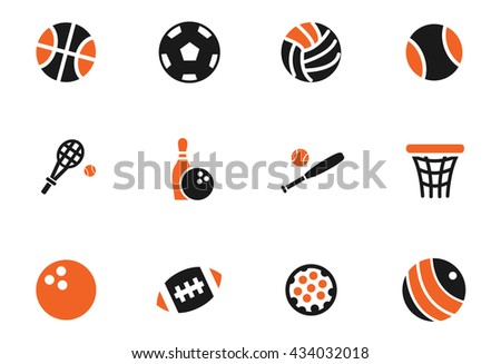 sport balls web icons for user interface design