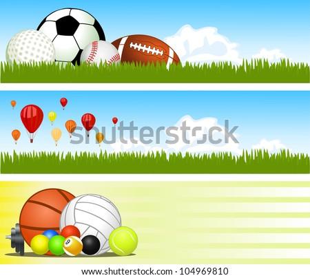 Sport banners. Vector - stock vector