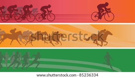 Sport banners. Vector illustration - stock vector