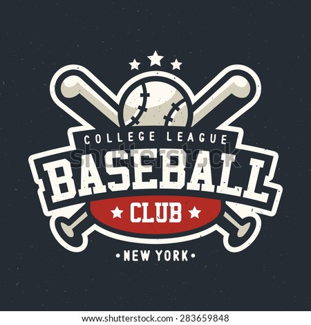 Sport Baseball Club Vintage Badge Logo Template, Sport T-Shirt Graphics - stock vector