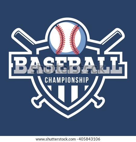 sport baseball logo american style stock vector 405843106
