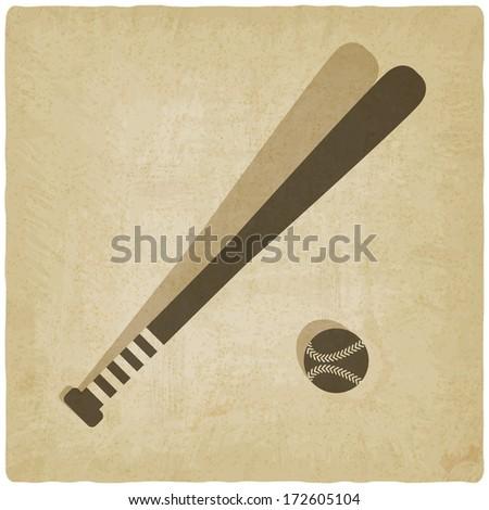 sport baseball old background - stock vector
