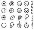 Sport black icons - stock vector