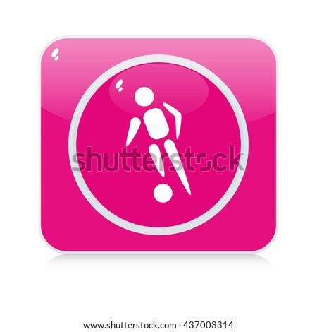 sport button - stock vector