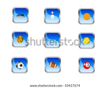 Sport buttons - stock vector