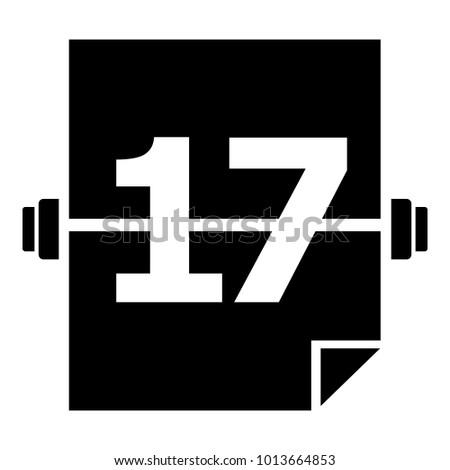 sport calendar icon simple illustration sportのベクター画像素材