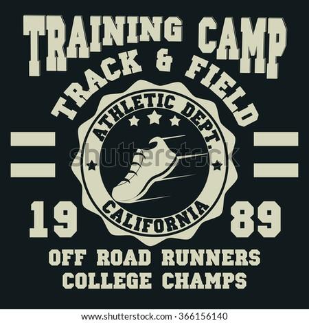 Sport typography road race tshirt graphics stock for Marathon t shirt printing