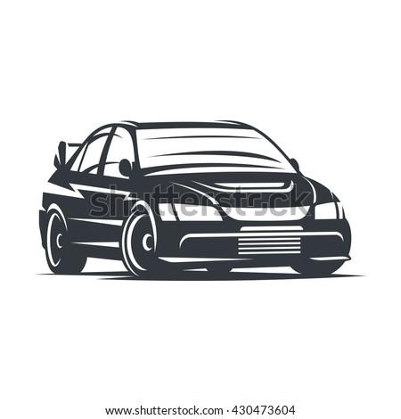 Stock Vector Sport Car Logo Emblem Badge Illustration On White Background on Ford Motor Pany Logo