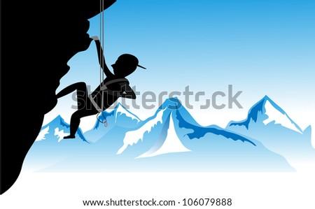 Sport Climbing Sport Climbing Vector illustration. - stock vector