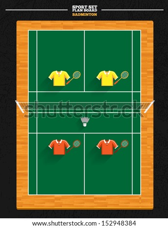 Badminton court Stock Photos, Images, & Pictures ... Badminton Player Positions