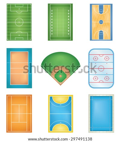 Sport Courts - stock vector